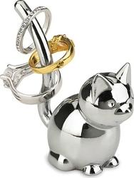 Stojak na pierścionki Zoola chrom kot