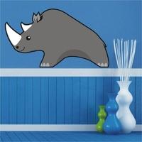 Nosorożec 14 naklejka samoprzylepna
