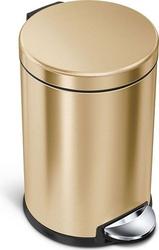 Kosz na śmieci pedałowy 4,5 l simplehuman złoty