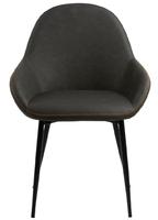 Nowoczesne krzesło tapicerowane ekoskórą amara dove grey pu