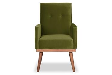Krzesło klematisar welurowe welur bawełna 100 oliwkowy