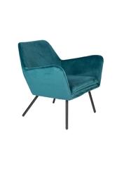 Orange line fotel bon velvet niebieski 3100100