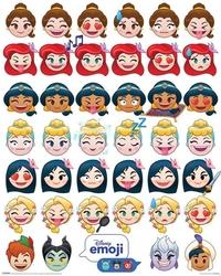 Disney emoji princess emotions - plakat