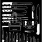 Plakat types of knives czarny 40 x 50 cm
