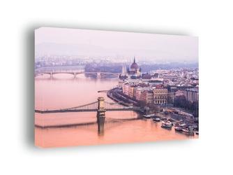 Budapeszt, parlament - obraz na płótnie wymiar do wyboru: 70x50 cm