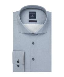 Elegancka szara koszula w delikatny kwadratowy wzorek super slim fit 38