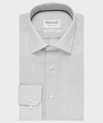 Elegancka szara koszula ze splotem oxford michaelis z kołnierzem klasycznym 38