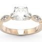 Pierścionek z różowego i białego złota z zirconem i brylantami bp-93pb-r - różowe  zirkon sparlit