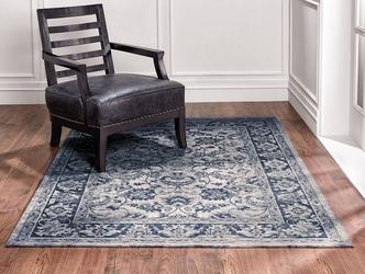 Dywan łatwoczyszczący w kwiaty tebriz antique blue 160x230 cm