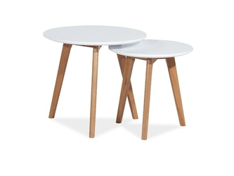 Zestaw stolików Vigo S2 białe