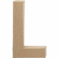 Litera z papier mache 20,5x2,5 cm - L - L