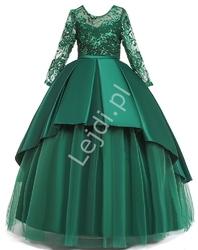 Zielona sukienka dziecięca w barokowym stylu 233