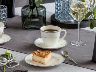 Zestaw kawowy dla 6 osób porcelana mariapaula nova ecru pure 12 elementów