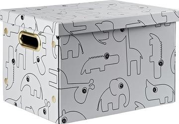 Pudełko do przechowywania prostokątne dots szare