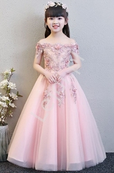 Długa luksusowa suknia na wesele, bal, komunie 6002