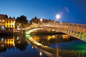 Dublin Halfpenny Most krajobraz - plakat