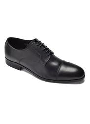Eleganckie i luksusowe czarne skórzane buty męskie typu derby 41