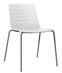 Krzesło bez podłokietników skin 4 na czarnych nogach