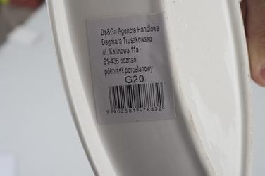Półmisek porcelanowy listek 30.5 x 11 cm