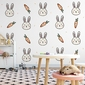 Tapeta dziecięca - carrot lovers , rodzaj - tapeta flizelinowa laminowana