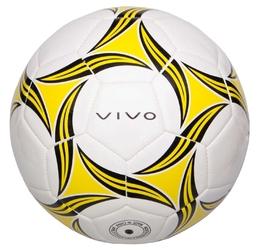 Piłka nożna vivo attack 5 biało-czarno-żółta
