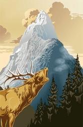 Szczyt góry - fototapeta