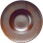 Talerz głęboki z zagłębieniem, porcelanowy, stara miedź fire verlo v-83005-3