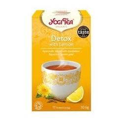 Herbata pure detox z cytryną 17 torebek, yogi tea bio
