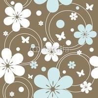 Obraz na płótnie canvas czteroczęściowy tetraptyk bez szwu retro wzór z kwiatami