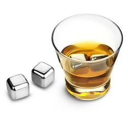 kostki do whisky i drinków 4 szt metalowe ze stali nierdzewnej