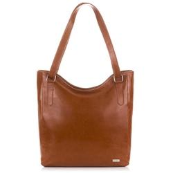 Duża skórzana torba damska na ramię paolo peruzzi z-09-bl