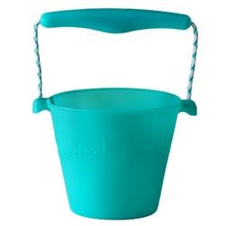 Zwijane wiaderko silikonowe scrunch bucket - turkusowe
