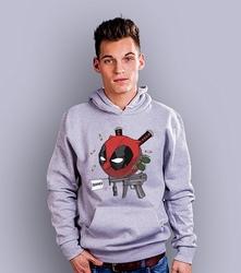 Deadpoolka męska bluza z kapturem jasny melanż xxl
