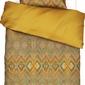 Pościel fabienne 140 x 200 cm musztardowa z poszewką na poduszkę 70 x 90 cm