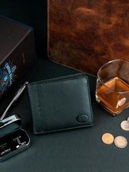 Skórzany czarny portfel męski rfid pierre andreus n27661 - czarny