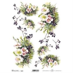 Papier ryżowy ITD A4 R1099 kwiaty bukiet