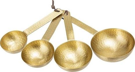 Miarki kuchenne łyżki gold 4 szt.
