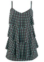 Sukienka kąpielowa bonprix brązowo-turkusowy w kropki