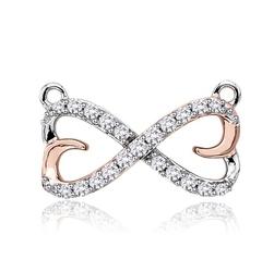 Staviori wisiorek. 21 diamentów, szlif brylantowy, masa 0,17 ct., barwa h, czystość si2. białe, różowe złoto 0,585. wymiary 5x15 mm.