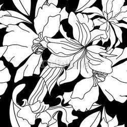 Fotoboard na płycie szwu z białymi kwiatami