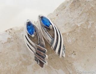 Glida - srebrne kolczyki z szafirem
