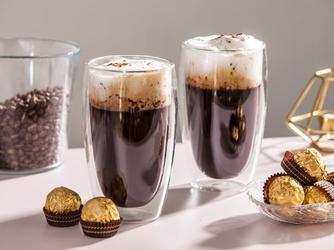 Szklanki z podwójną ścianką i dnem termiczne do napojów altom design andrea 450 ml komplet 2 szklanek