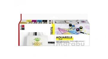 Zestaw farb do tkanin 4x15ml marabu textil aquarelle