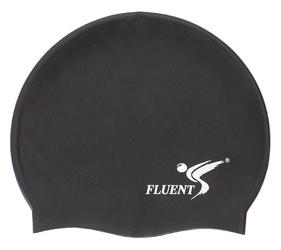 Czepek pływacki silikon fluent czarny