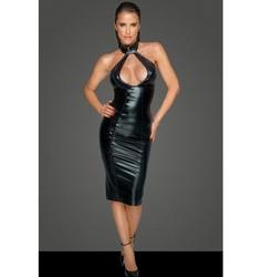 Działająca na zmysły sukienka z niesamowitym dekoltem l | 100 dyskrecji | bezpieczne zakupy