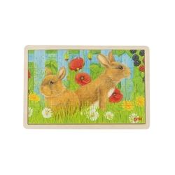 Zajączki drewniane puzzle 24 el.