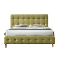 Łóżko tapicerowane letta 160x200 cm zielone