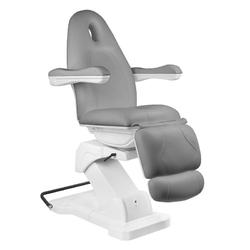 Fotel kosmetyczny elektr. basic 161 obrotowy szary