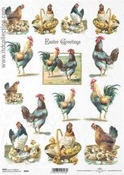 Papier ryżowy ITD A4 R846 kury Wielkanoc