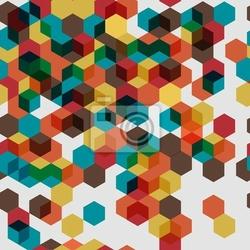 Fototapeta jednolite wzór z kolorowych abstrakcyjnych sześcianów